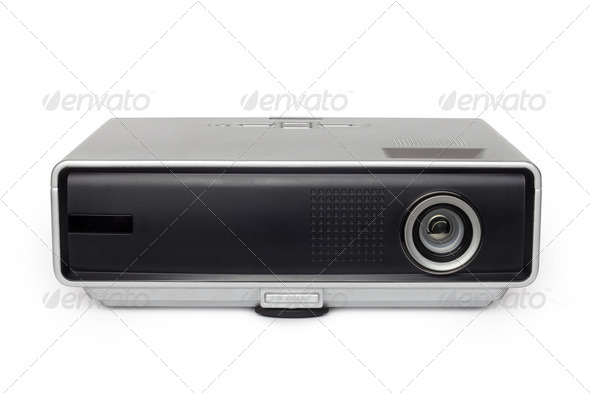 PhotoDune multimedia projector on white background 4254056