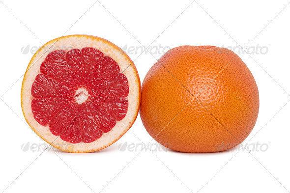 PhotoDune grapefruits on white background 4254379