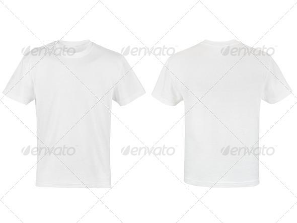 PhotoDune two white T-shirt isolated on white background 4254378