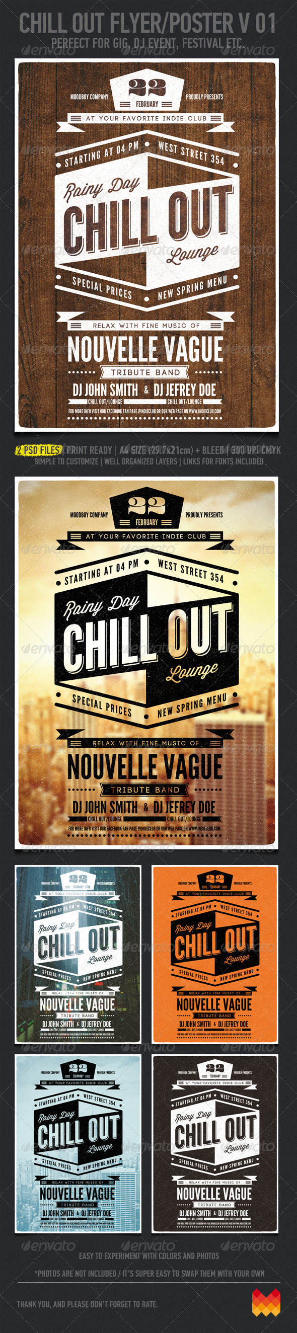 GraphicRiver Chill Out Flyer Poster V 01 4203215