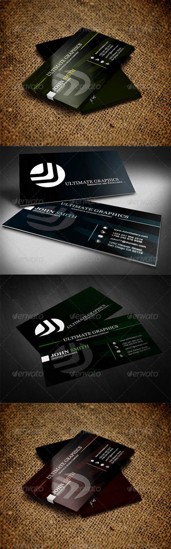 MultiColor Business Card - Business Cards Print Templates