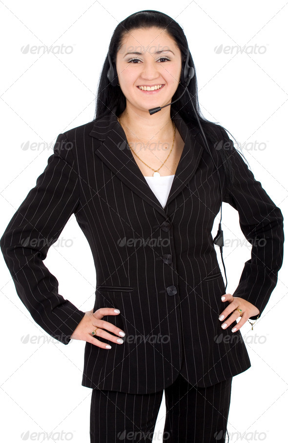 customer service girl - Stock Photo - Images