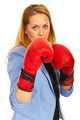 Business woman with boxing gloves - PhotoDune Item for Sale