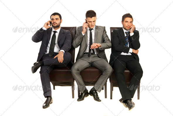 PhotoDune Business men talking by phones 4204824