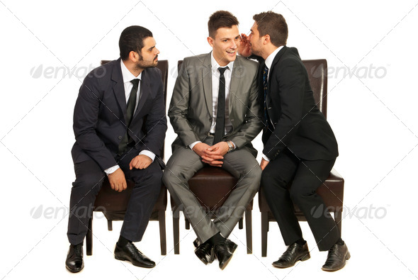 PhotoDune Business men telling a secret 4204832