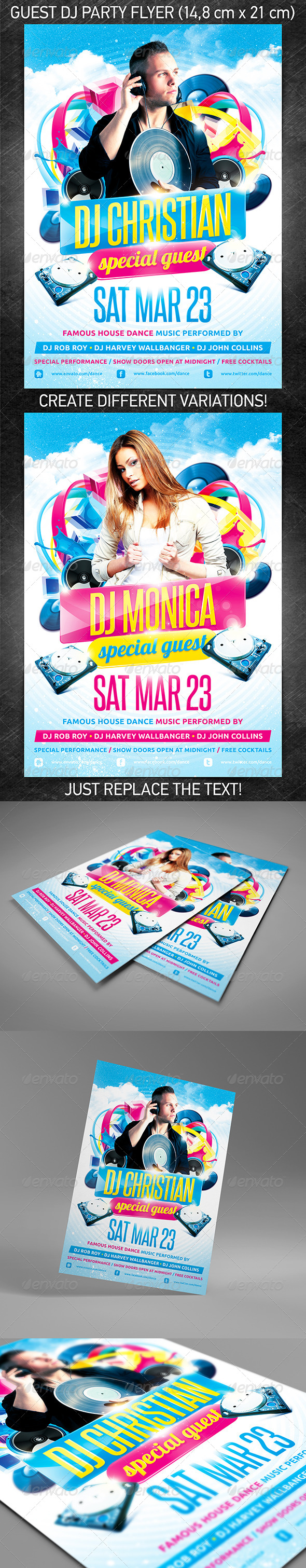 GraphicRiver Guest DJ party flyer 4207705