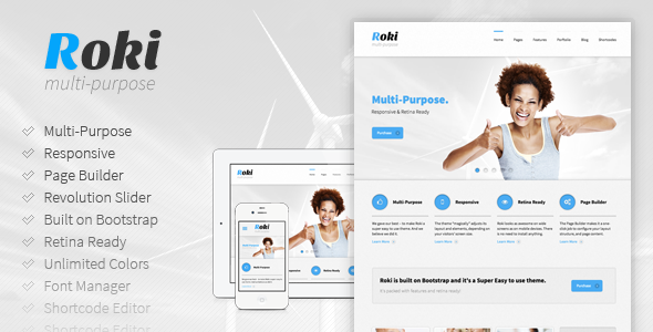 ThemeForest Roki Multi-Purpose Responsive Theme 4129682