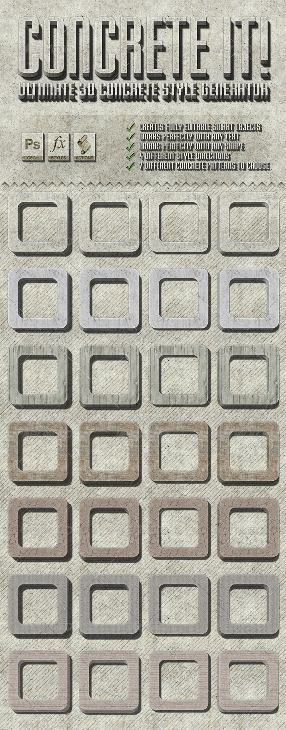 GraphicRiver Concrete Style Actions 4207932