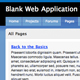 Blank Web Application Template  - ThemeForest Item for Sale