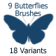 9 Butterflies Brushes (2500px) - GraphicRiver Item for Sale