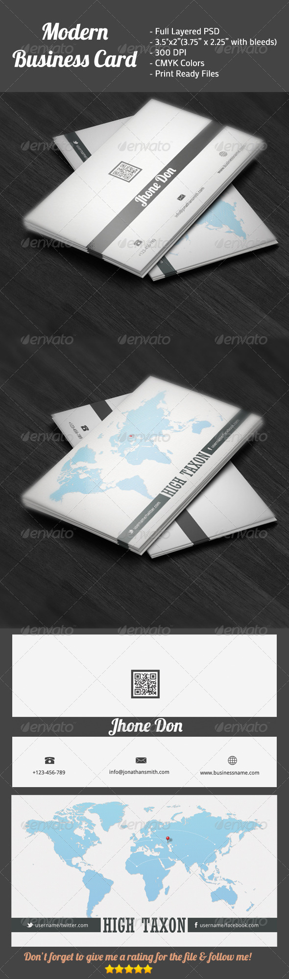 GraphicRiver Modern Business Card 4208456