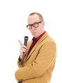 Businessman with a microphone - PhotoDune Item for Sale