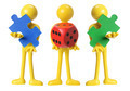 Miniature Figures with Dice and Puzzles - PhotoDune Item for Sale