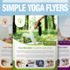 Simple Yoga Flyer - GraphicRiver Item for Sale
