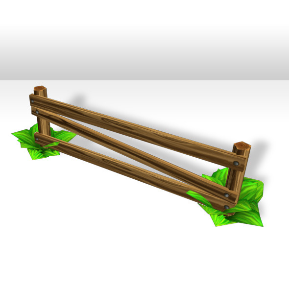 3DOcean Wood Fence Low poly 4211950