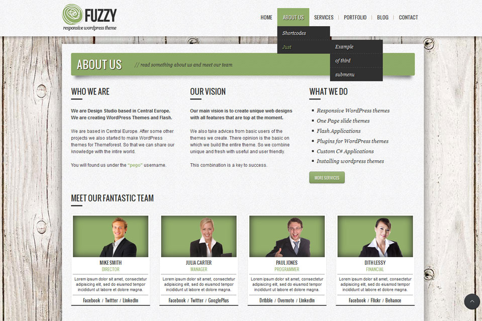 FUZZY - jQuery responsive wordpress theme