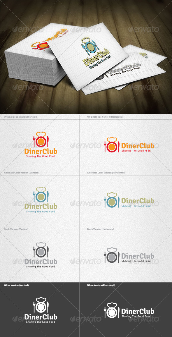 GraphicRiver Diner Club Logo 4213014
