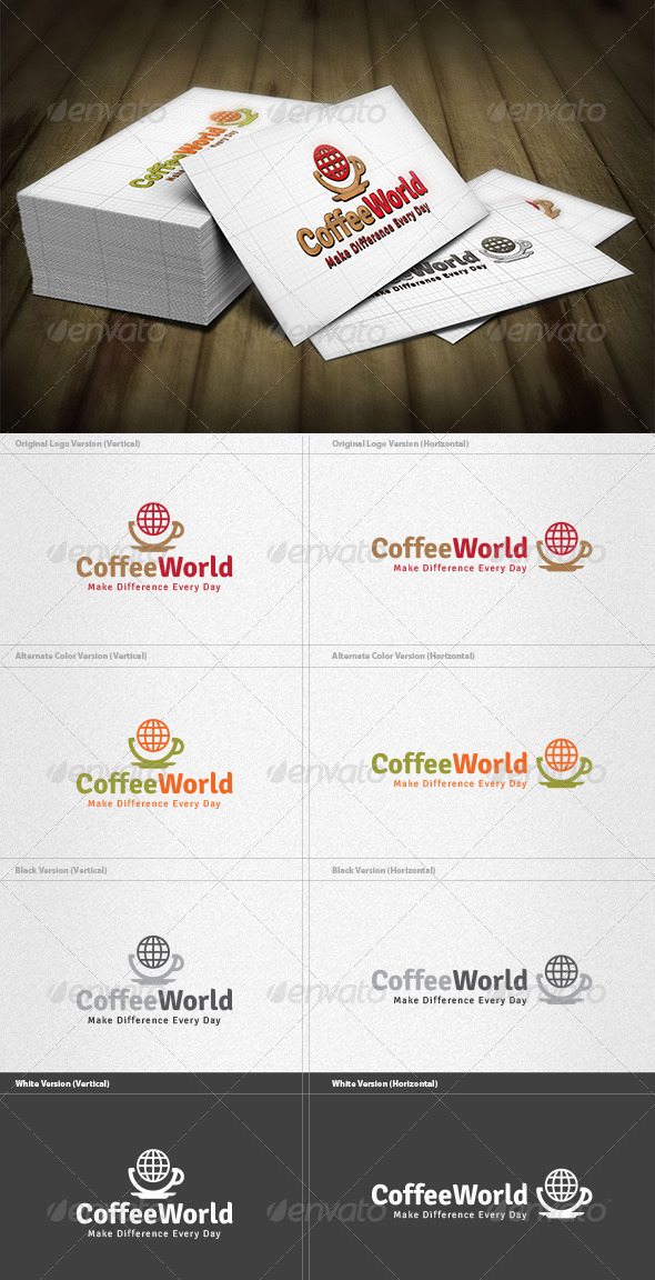 GraphicRiver Coffee World Logo 4213119