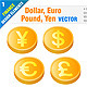 Dollar, Euro, Pound, Yen - GraphicRiver Item for Sale