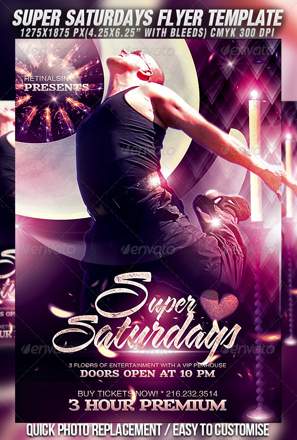 GraphicRiver Super Saturdays Flyer Template 4216022