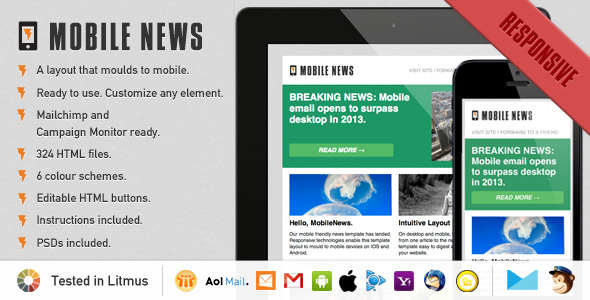 Mobile News - A Responsive Newsletter Template