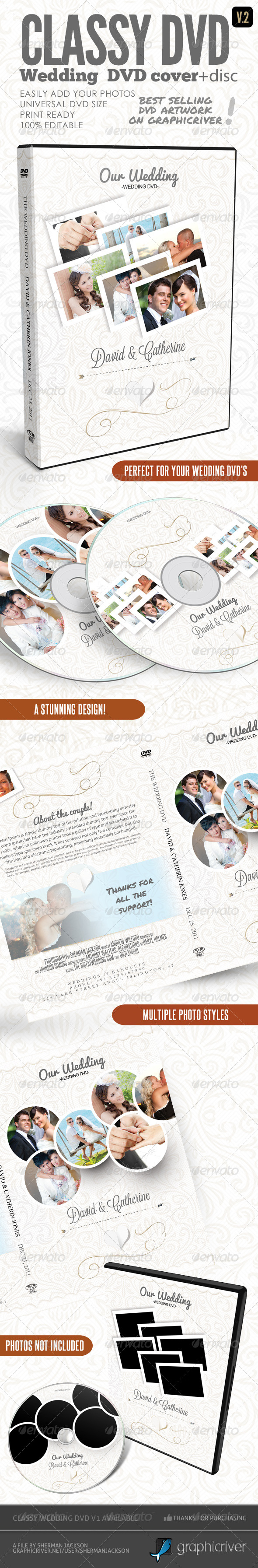 Classy Wedding DVD Covers V.2 - CD & DVD artwork Print Templates