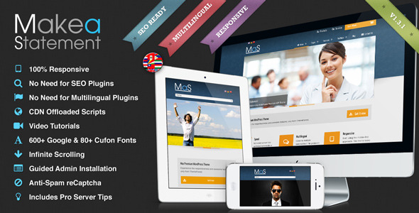MaS - Multilingual Responsive Multi-Purpose Theme