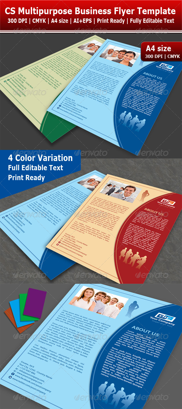 GraphicRiver Colorful Multipurpose Flyer 4000593