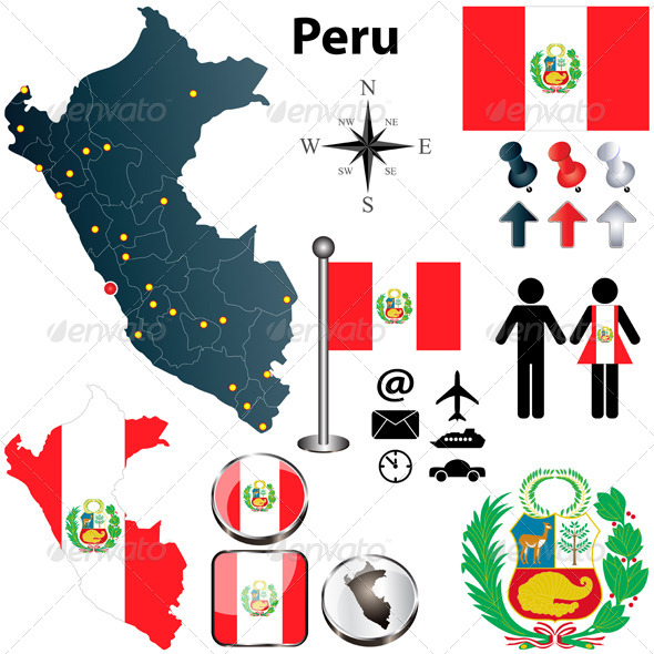 GraphicRiver Map of Peru 4218989