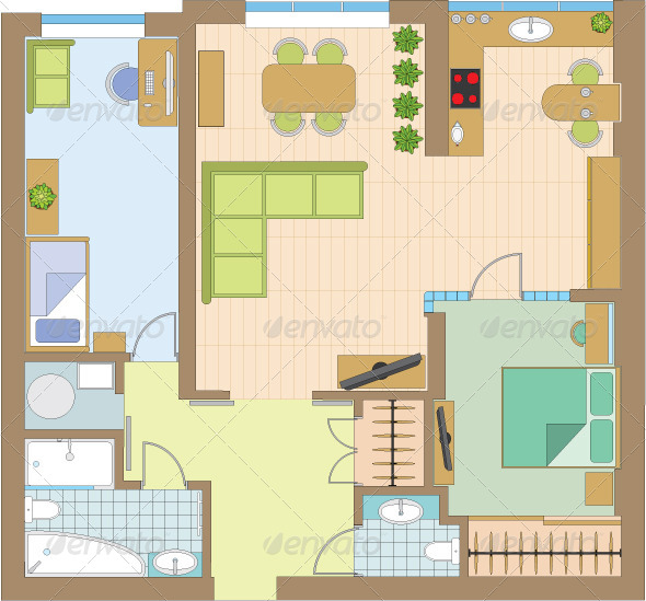 GraphicRiver Apartment Drawing 4219606