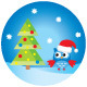 Owl Under the Christmas Tree - GraphicRiver Item for Sale