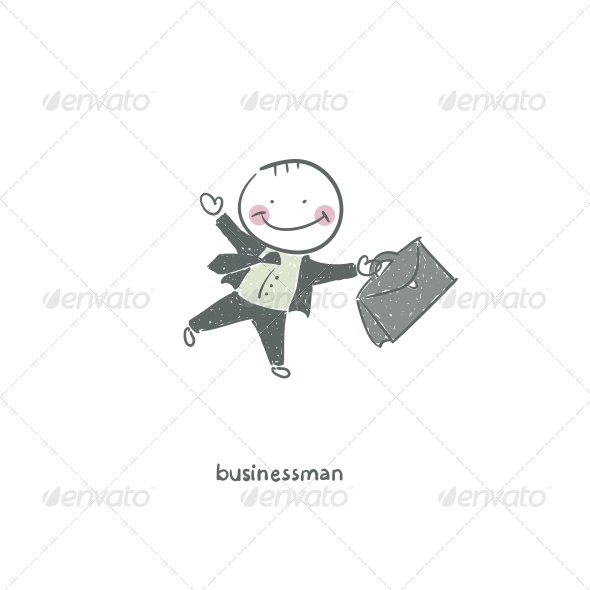 GraphicRiver Businessman Illustration 4220076
