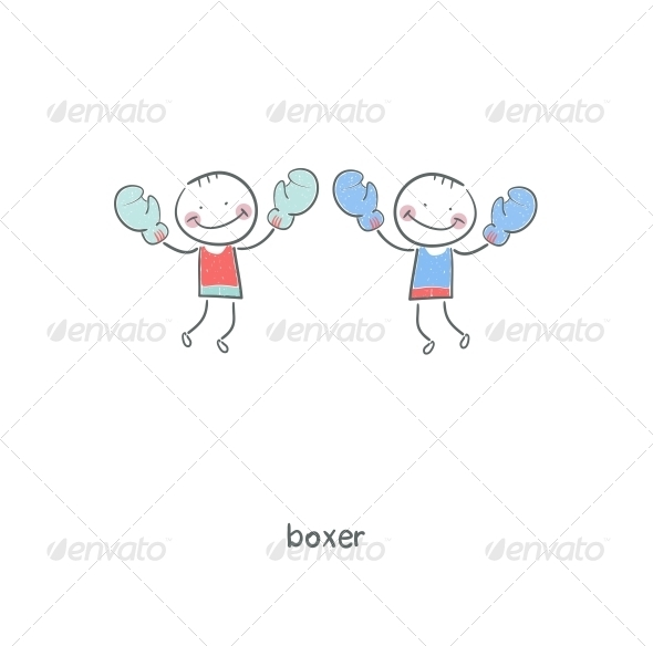 GraphicRiver Boxers Illustration 4220085