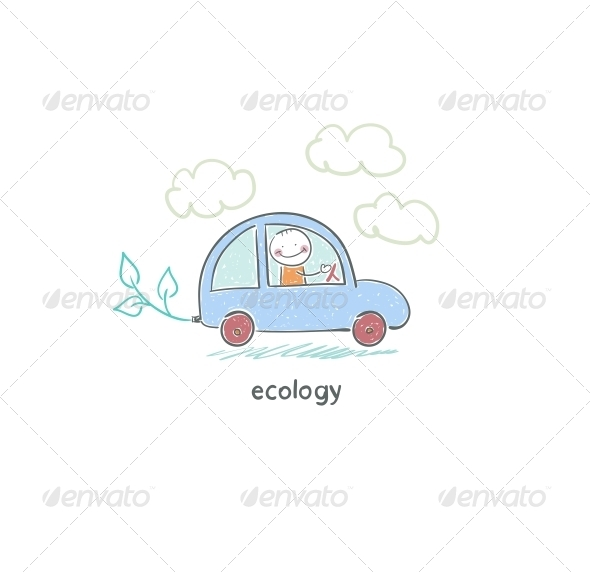 GraphicRiver Eco Car 4220189