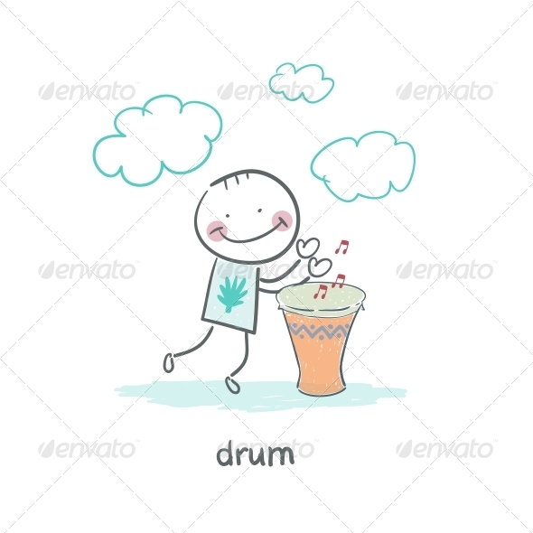 GraphicRiver Man Drumming 4220192