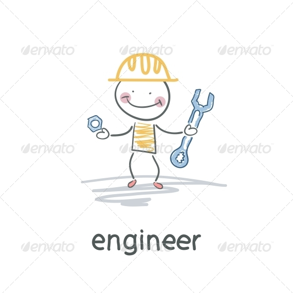 GraphicRiver Engineer Illustration 4220240