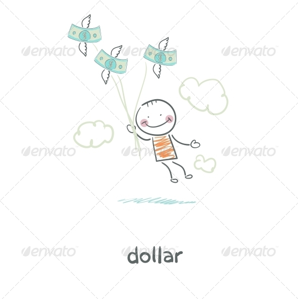 GraphicRiver People and Money Illustration 4220242