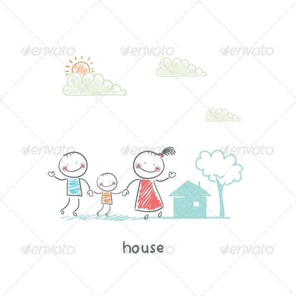 GraphicRiver Family and Home Illustration 4220340