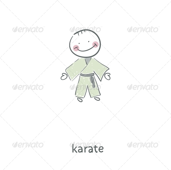GraphicRiver Karate Illustration 4220444