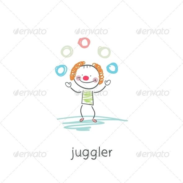GraphicRiver Clown Juggler Illustration 4220481