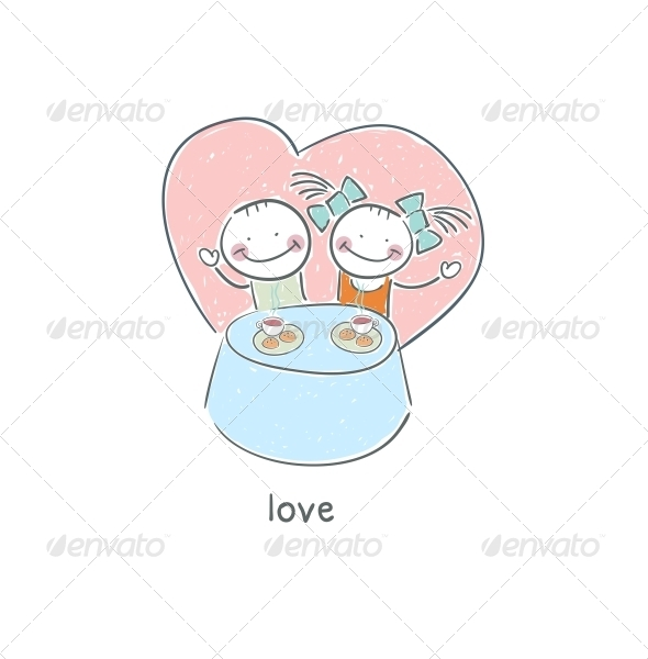 GraphicRiver Amorous Diner 4220509