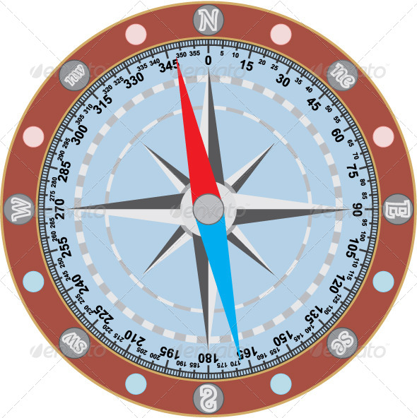 GraphicRiver Image of Compass on a White Background 4220542