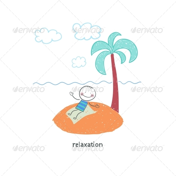 GraphicRiver Man on Vacation Illustration 4220774