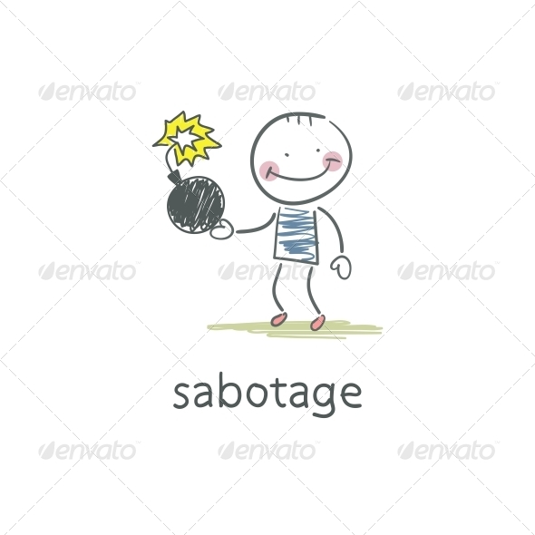 GraphicRiver Sabotage Illustration 4220807