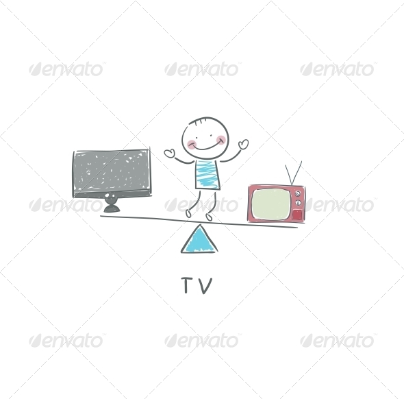GraphicRiver TV and Man 4220826