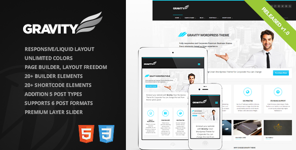 ThemeForest Gravity Business Theme for Creative & Corporate 4220971