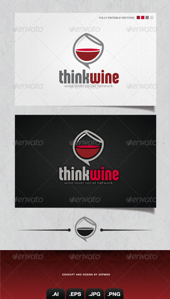 GraphicRiver Think Wine Logo 4126231