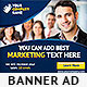 Corporate PSD Banner Ad Template 5 - GraphicRiver Item for Sale