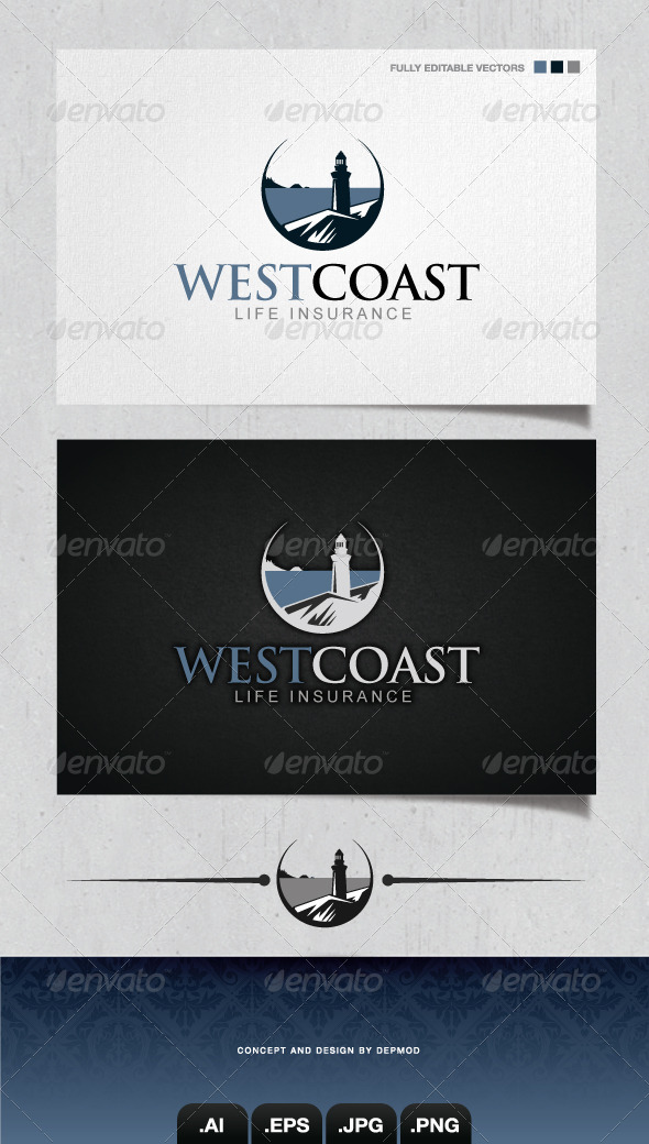 GraphicRiver West Coast Logo 4126444