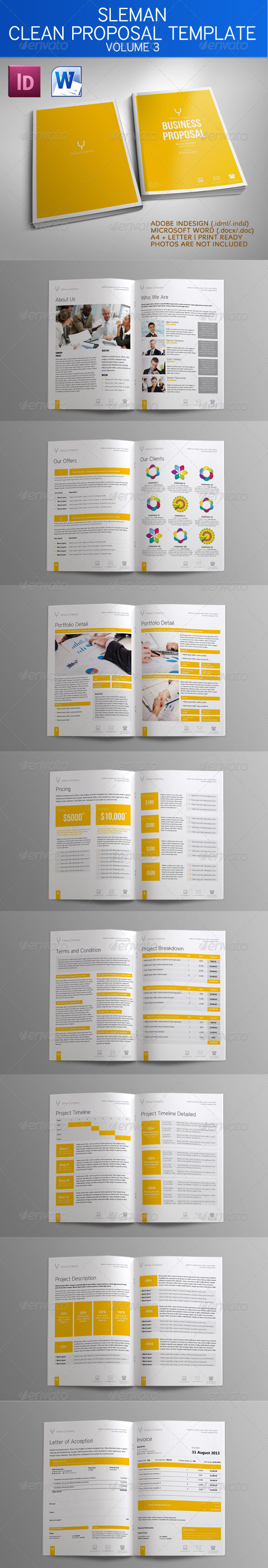 GraphicRiver Sleman Clean Proposal Template Volume 3 4223852